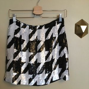 NWT French Connection Fast Dazzi Sequin Skirt 6